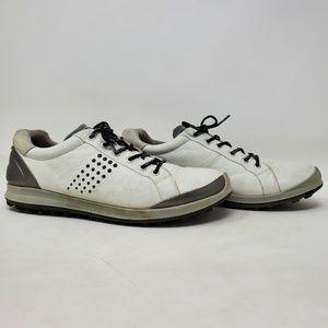 ECCO BIOM Hybrid 2 Golf Shoes White Black Leather